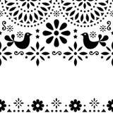 Cartolina d'auguri messicana di arte di piega, retro nozze o invito del partito con la torsione moderna royalty illustrazione gratis