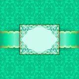 Cartolina d'auguri nei colori verdi Fotografie Stock