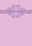 Cartolina d'auguri o dell'invito per le ragazze Fotografie Stock
