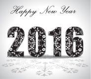 Cartolina d'auguri o fondo di 2016 buoni anni illustrazione vettoriale