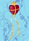 Cartolina d'auguri o invito per il giorno del biglietto di S. Valentino Fotografia Stock Libera da Diritti