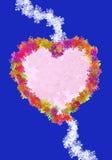 Cartolina d'auguri o invito per il giorno del biglietto di S. Valentino Immagini Stock Libere da Diritti