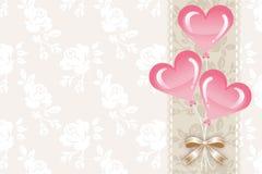Cartolina d'auguri, palloni del cuore - EPS10 illustrazione vettoriale