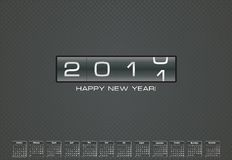 Cartolina d'auguri per 2011 con il calendario di indennità Fotografia Stock