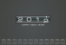 Cartolina d'auguri per 2012 con il calendario di indennità Fotografie Stock Libere da Diritti