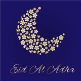 Cartolina d'auguri per Eid Al Adha illustrazione di stock