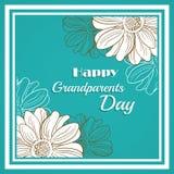 Cartolina d'auguri per il giorno dei nonni Immagine Stock Libera da Diritti