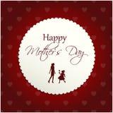 Cartolina d'auguri per il giorno di madri Immagini Stock Libere da Diritti