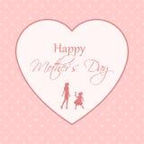 Cartolina d'auguri per il giorno di madri Immagine Stock