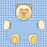 Cartolina d'auguri per il neonato Fotografia Stock