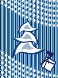 Cartolina d'auguri per il nuovo anno ed il natale Immagini Stock Libere da Diritti