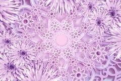 Cartolina d'auguri per il nuovo anno Fiocchi di neve rosa su un fondo rosa Fondo floreale di Natale royalty illustrazione gratis