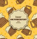 Cartolina d'auguri per il partito di Oktoberfest Fotografia Stock Libera da Diritti