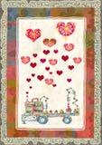 Cartolina d'auguri per il San Valentino Fotografia Stock
