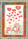 Cartolina d'auguri per il San Valentino Immagine Stock Libera da Diritti