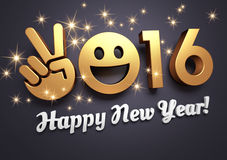 Cartolina d'auguri 2016 per il sorriso Fotografia Stock