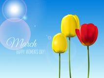 Cartolina d'auguri per l'8 marzo Fotografia Stock