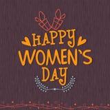 Cartolina d'auguri per la celebrazione del giorno delle donne Fotografia Stock Libera da Diritti