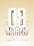 Cartolina d'auguri per la celebrazione del giorno delle donne Fotografie Stock