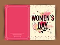 Cartolina d'auguri per la celebrazione del giorno delle donne Immagini Stock
