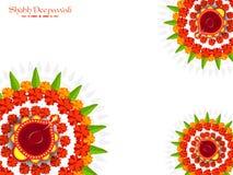 Cartolina d'auguri per la celebrazione di Diwali illustrazione di stock