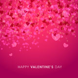 Cartolina d'auguri per la celebrazione di San Valentino Immagini Stock Libere da Diritti