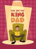 Cartolina d'auguri per la celebrazione felice di festa del papà Immagini Stock Libere da Diritti