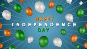 cartolina d'auguri 3d per la festa dell'indipendenza indiana illustrazione di stock