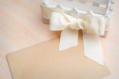 Cartolina d'auguri per la festa, un posto per il vostro testo Fotografia Stock