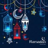 Cartolina d'auguri Ramadan Kareem Fotografia Stock