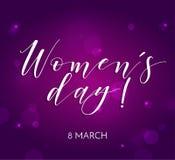 Cartolina d'auguri rosa astratta - giorno internazionale del ` s delle donne - 8 marzo Immagini Stock