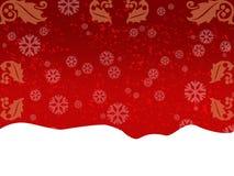 Cartolina d'auguri rossa Immagine Stock