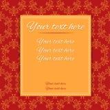 Cartolina d'auguri rossa/dell'invito Fotografia Stock