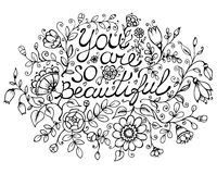 Cartolina d'auguri siete così beautiful Fotografia Stock Libera da Diritti