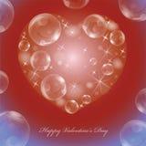 Cartolina d'auguri sul San Valentino illustrazione di stock