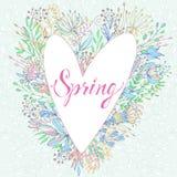 Cartolina d'auguri sveglia della primavera Fotografia Stock Libera da Diritti