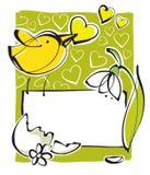 Cartolina d'auguri, tema della sorgente illustrazione vettoriale