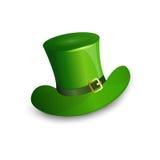 Cartolina d'auguri verde di Patrick Day Beer Festival Banner del san del cappello Fotografie Stock Libere da Diritti