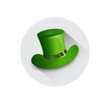 Cartolina d'auguri verde di Patrick Day Beer Festival Banner del san del cappello Fotografia Stock