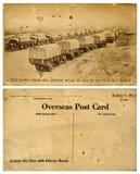 Cartolina d'oltremare dell'esercito con il convoglio di camion Fotografia Stock Libera da Diritti