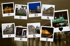 Cartolina da Budapest Fotografie Stock