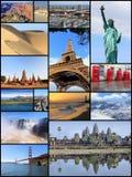 Cartolina dei punti di riferimento del mondo Fotografie Stock