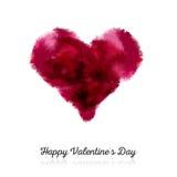 Cartolina del biglietto di S. Valentino con cuore Immagini Stock Libere da Diritti