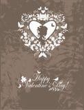 Cartolina del biglietto di S. Valentino dell'annata Immagini Stock