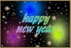 Cartolina del buon anno fotografie stock