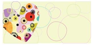 Cartolina del cuore Fotografia Stock Libera da Diritti