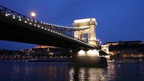 Cartolina del disegno della mano di paesaggio urbano di Budapest stock footage