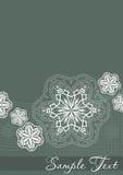 Cartolina del fiocco di neve Fotografia Stock Libera da Diritti
