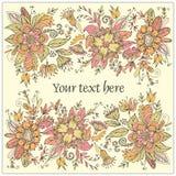 Cartolina del fiore Fotografia Stock
