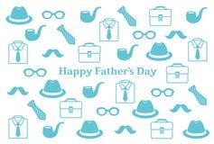 Cartolina del giorno del padre Fotografia Stock Libera da Diritti